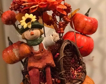 Pumpkin Man Floral Arrangement