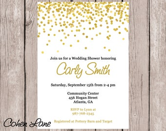 Printable Wedding Shower Invitation.  Bridal Shower.  Bridal Lunch.  Baby Shower Invitation. Bridal Shower Invite. Teenage Party Invite