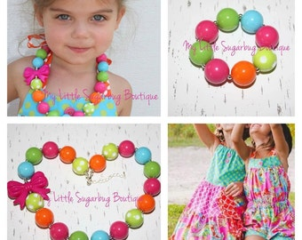 Pink Crush Chunky Necklace-Bubblegum Necklace-Baby-Toddler-Girls-Women