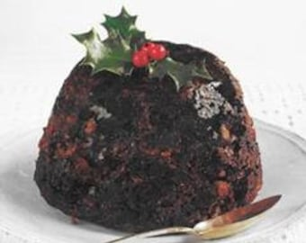 1 Pint Traditional British Steamed Plum or Figgy Pudding