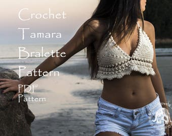 Bralette Pattern Tamara | Crochet Bralette | Crop Top Pattern | Halter Top Pattern | Crochet Halter | Beach Top Pattern |PDF Crochet Pattern