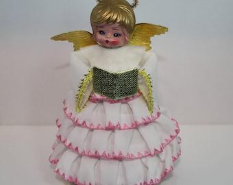 """Vintage Christmas Angel - """"Dances"""" on Music Box Base"""