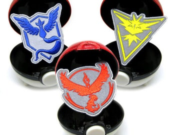 Pokemon Go Reflective Team Badges