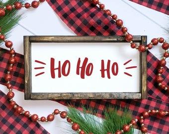 HoHoHo Sign // Christmas Sign // Merry Christmas // Ho Ho Ho // Christmas Decor // Farmhouse Christmas Decor // Rustic Christmas
