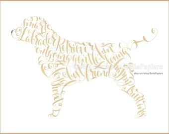 Labrador Retriever Portrait custom pet painting Lab Memorial Print Yellow Lab Chocolate Lab Dog Art Pet Lovers Dog Lovers gift