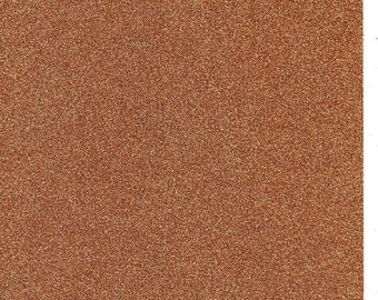 Copper Glitter Card A4 soft touch low shed 1 sheet