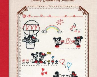 Disney Embroidery Pattern Book - Japanese embroidery book