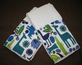 Boutique Burp Cloth sets......2-D Zoo Pool Boutique Burp Cloth Set