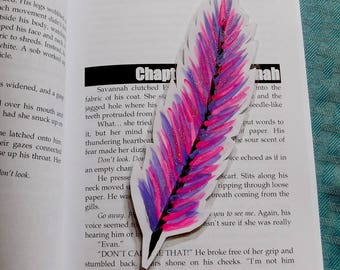 Hand Painted Feather Bookmarks
