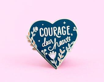 Courage Enamel Pin | Narnia Pin - Lapel Pin - Enamel pins