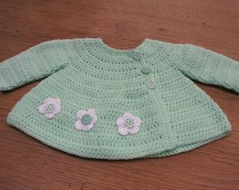 "Crochet Baby cardigan ""Flowers"""