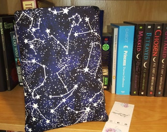 Personalized Book Sleeve Constellations Glow-in-the-Dark, Book Protector, Book Cover