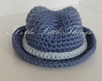 Crochet Baby Fedora Hat, Crochet Hat, Crochet Fedora Hat