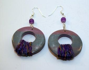 Blue/purple Earrings