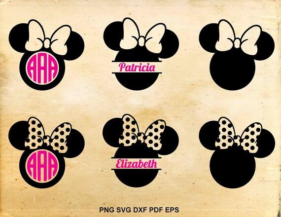 Minnie mouse svg, Monogram frame, Split monogram, Disney silhouette ...