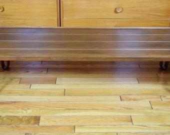 "Vintage 1960's MCM Dunbar Edward Wormley Walnut Sab Long John Bench Coffee Table 71"""
