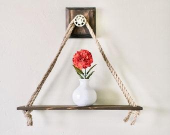 Brown Swing Shelf
