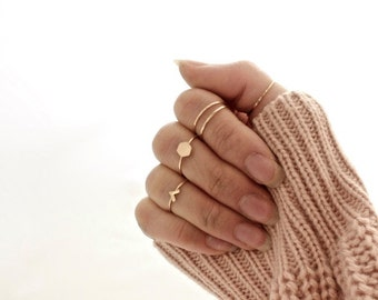 Stacking Rings in Sterling Silver or 14k Gold Filled