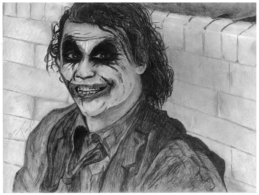 Cavaliere oscuro joker batman matita disegno stampa da carbone for Disegno una finestra tra le stelle karaoke
