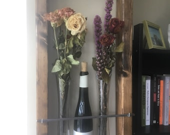 Wall hung flower vase