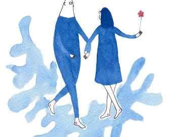 Have lan shi is a (love is blue N.4)