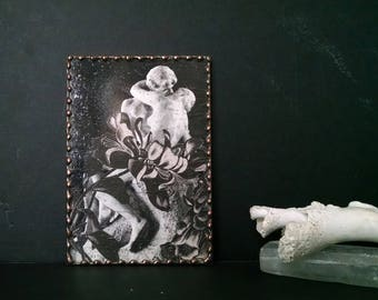 Hand Cut Paper Collage Leaded Glass Frame Rodin The Kiss
