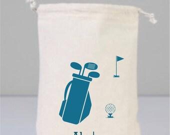 Personalized Golf Balls, Golf Gifts For Men, Golf Gifts for Women, Golf Lover Gift, Golf Gifts, Personalized Golf Bag, Cotton Bag Drawstring