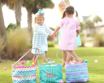 Easter Bucket, Monogrammed Easter Basket, Personalized Easter Basket, Girls Easter Basket, Girls Easter Bucket, Girls Gifts, Easter