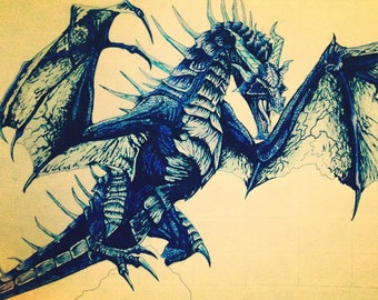Skyrim dragon art