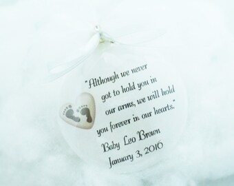 Miscarriage Memorial Ornament Although We Never Got To Hold You, Free Personalization and Charm