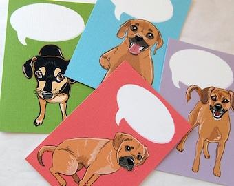 Convo Puggle Cards - Eco-friendly Set of 5 - Jumbo Size
