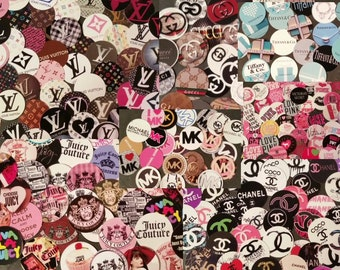 "25 - 150 Assorted Lot Pre-Cut 1"" Bottle Cap Images *HUGE LOGO VARIETY*"