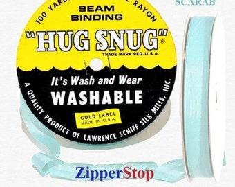 """SCARAB- Hug Snug Seam Binding - 100 yard roll 1/2"""" Wide - 100% Woven-Edge Rayon - Schiff"""
