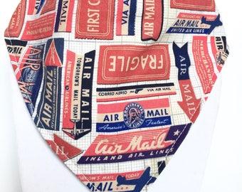 First class mail bandana style drool bib