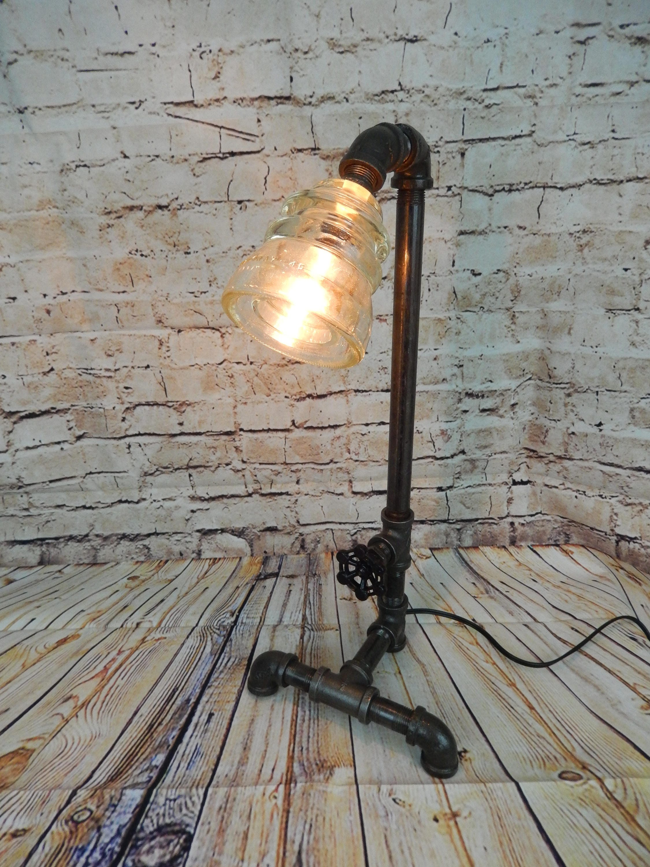 industrial pipe product detail little robot rustic shape apollobox iron lamp