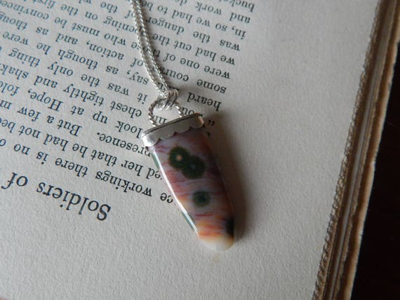 Into the Wild Collection, Buffalo Tongue Ocean Jasper Sterling Silver Necklace II