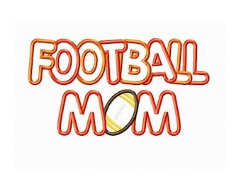 Instant Download Football Mom Multi Fabric Embroidery Machine Applique Design 683