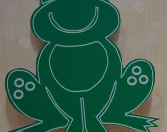 set of 2 frogs 515 perspex for scrapbook pages