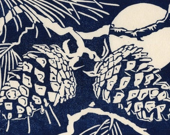 Enlightenment: Hand-lifted Woodblock Print