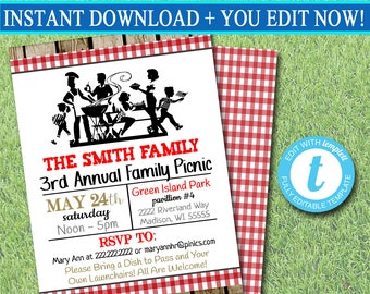 editable beer and boil invitation company family picnic bbq