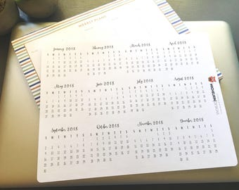12 Months Mini Script Calendar Stickers for Journals and Planners