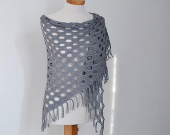 TOBY, Crochet shawl pattern pdf
