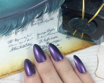 What Did I Miss? nail polish Hamilton Musical Thomas Jefferson purple shimmer