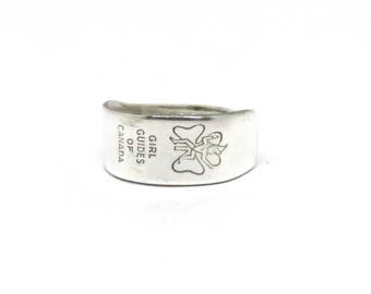 Girl Guides of Canada ring , canadian ring,  spoon ring, guider ring