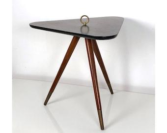 Unique Tripod Cigarette Table 1950's