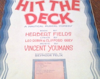 Hallelujah from Hit the Deck - 1922 sheet music