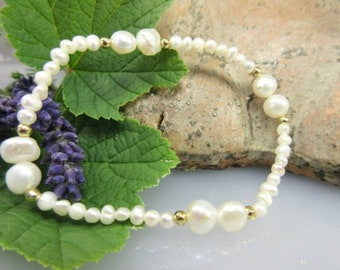 Flexible bracelet with seed and Baroque Zuchtperlen only € 99, 00