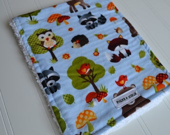 Forest Critters Burp Cloth