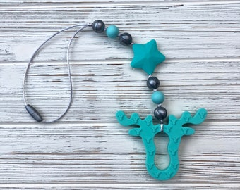 Moose Teether, Baby Carrier Teether, Stroller Toy, Stroller Teether, Sensory Toy, Silicone Teether, Baby Carrier Accessory, Teether