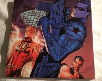 Captain America, Bucky Barnes and Sam Wilson Coasters Set